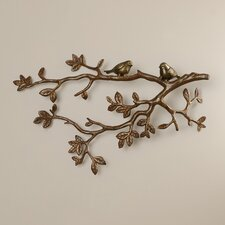 Whowood Decorative Little Lovebirds on Branch Wall Decor