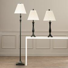 Froste 29'' H 3 Piece Table Lamp Set with Empire Shade