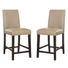 "Fleenor 25"" Bar Stool with Cushion (Set of 2)"