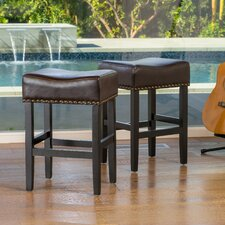 "Jennette 26"" Bar Stool with Cushion (Set of 2)"