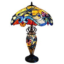"Guinevere 26"" H Table Lamp with Bowl Shade"