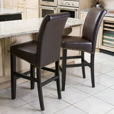 "Lisette 30"" Bar Stool with Cushion (Set of 2)"