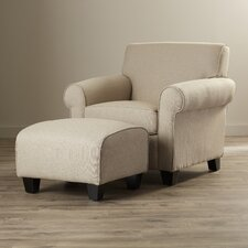 Azariah Arm Chair & Ottoman Set
