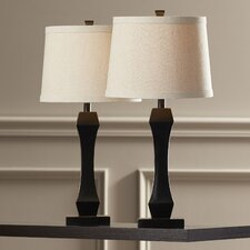 """Cato 29"""" H Table Lamp with Drum Shade (Set of 2)"""