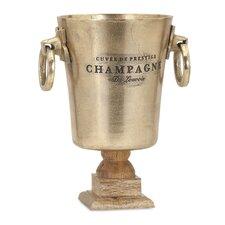 Zalvana Wine Bucket with Wood Base
