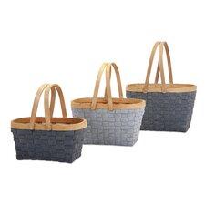 3 Piece Woodrow Natural Woven Basket Set