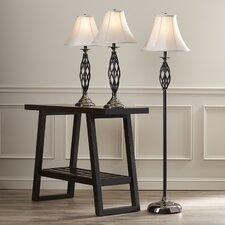 Glen 3 Piece Table Lamp and Floor Lamp Set