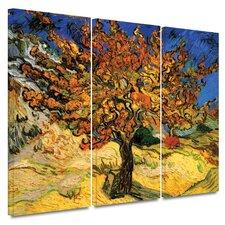 'Mulberry Tree' by Vincent Van Gogh 3 Piece Canvas Art Set