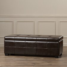 McLaughlin Leather Entryway Storage Ottoman