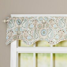 Floral Print Lined Filler Curtain Valance