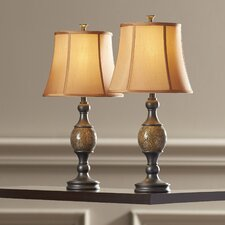 """Adelaide 29.25"""" H Table Lamp with Bell Shade (Set of 2)"""