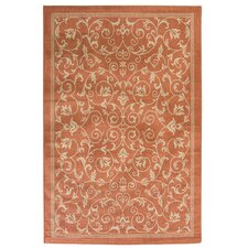 Reid Orange Indoor/Outdoor Area Rug