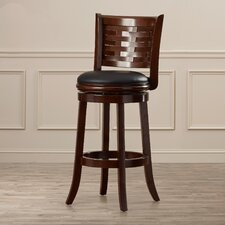 "Twarby 29"" Swivel Bar Stool with Cushion"