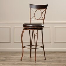 "Pomerary 30"" Swivel Bar Stool with Cushion"