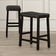 """Hussey 24"""" Bar Stool with Cushion (Set of 2)"""
