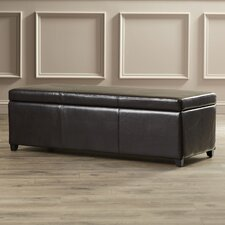 Ephraim Leather Storage Ottoman Bench