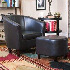Club Chair & Ottoman Set