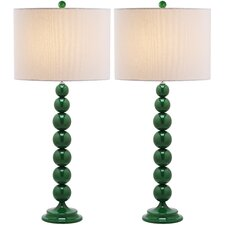 "31"" H Table Lamp with Drum Shade (Set of 2)"