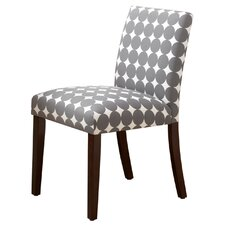 Parsons Chair in Grey Polka Dots