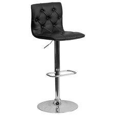 Kramer Adjustable Height Swivel Bar Stool with Cushion