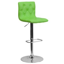 Kramer Adjustable Height Swivel Bar Stool with Cushion