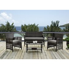 4 Piece Seating Group with Cushions