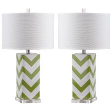 """Giada 27"""" H Table Lamp with Drum Shade (Set of 2)"""
