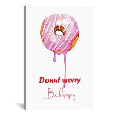 Donuts Single by Rongrong DeVoe Painting Print on Wrapped Canvas