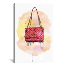 Chanel Bag by Rongrong DeVoe Painting Print on Wrapped Canvas