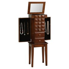 Bothwell Diamond Classic Jewelry Armoire with Mirror