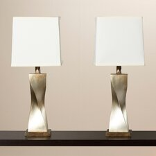 """31"""" H Table Lamp with Square Shade (Set of 2)"""