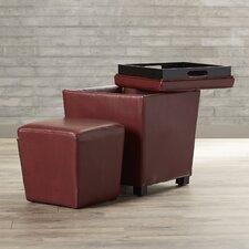 Gloversville 2-Piece Eco Leather Ottoman Set