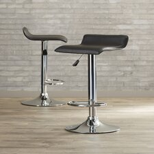 Maitland Adjustable Height Swivel Bar Stool with Cushion (Set of 2)