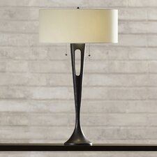 """Eldorado 2 Light 31"""" H Table Lamp with Drum Shade"""