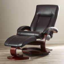 Linkwood 54 Series Leather Ergonomic Recliner & Ottoman