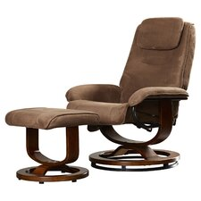 Templeville Reclining Heated Massage Chair with Ottoman