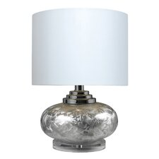"""Frosted LED 20"""" H Table Lamp with Drum Shade"""