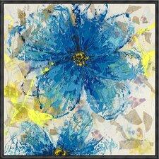 Cornflower Framed Painting Print on Canvas