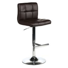 Romeo Adjustable Height Swivel Bar Stool with Cushion