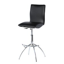 Shen Adjustable Height Swivel Bar Stool with Cushion (Set of 2)