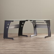 Brookmont L-Shaped Computer Desk with PC Caddy