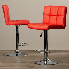 Taylor Adjustable Height Swivel Bar Stool with Cushion (Set of 2)