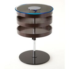 Keagan Round End Table with LED Light