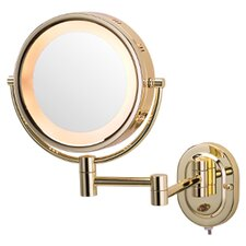 August Lighted 5X Magnifying Wall Mount Mirror