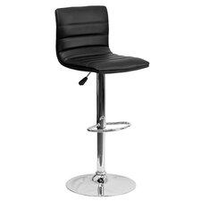 Caius Adjustable Height Swivel Bar Stool with Cushion