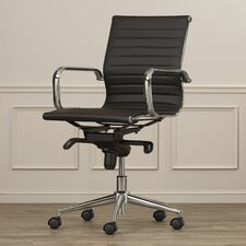 Mid-Back Upholstered Leather Conference Chair