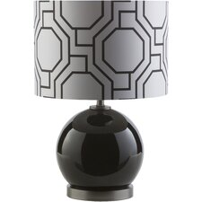 "Black 19.25"" H Table Lamp with Drum Shade"