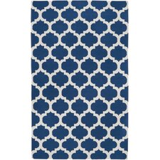 Alejandra Mediterranean Blue & Winter White Area Rug