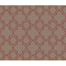 Andrea Taupe/Cherry Area Rug