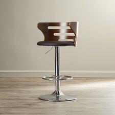 Zegna Adjustable Height Swivel Bar Stool with Cushion